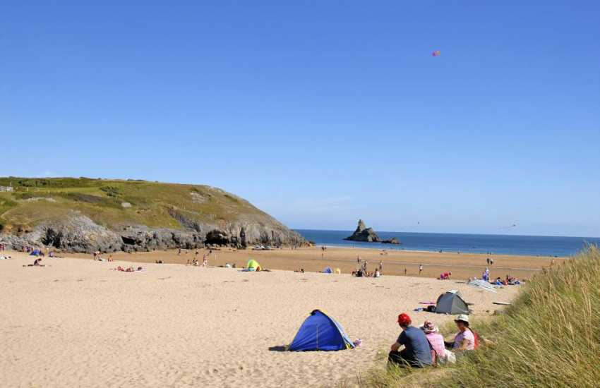 Broad Haven South - just one of the glorious golden sandy beaches along the nearby coastline