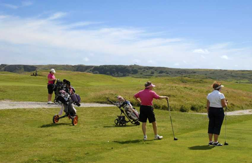 Pembrokeshire has a wide choice of challenging golf courses to choose from - many with excellent club houses!
