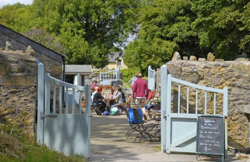 The Boat House overlooks Stackpole Quay - mouth watering cream teas and snacks are served all day long