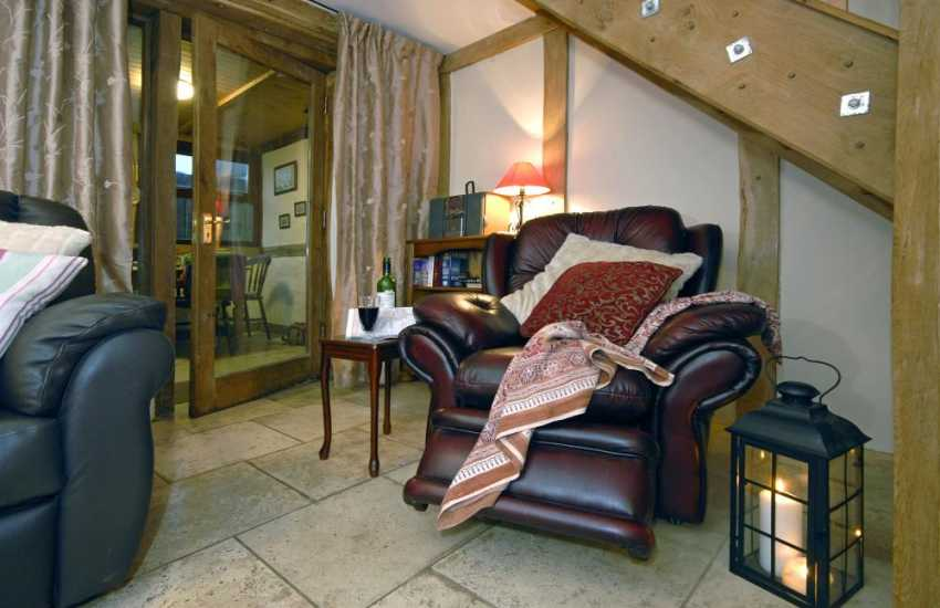 Goose Barn cottage, Pembroke - cosy and warm throughout the year