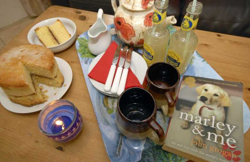 Tea, cake and lemonade at Goose Barn in Pembroke
