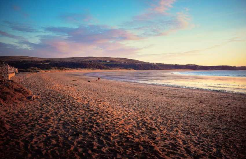 Oxwich bay is the most beautiful part of the Gower! Enjoy dog friendly walks all year round.