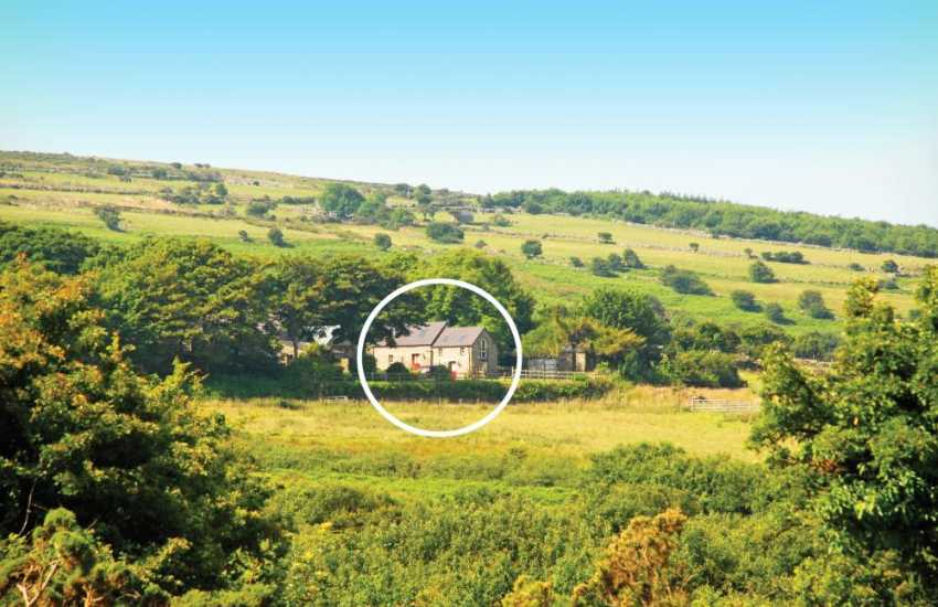 Welsh stone holiday cottage on Angel Mountain, Newport