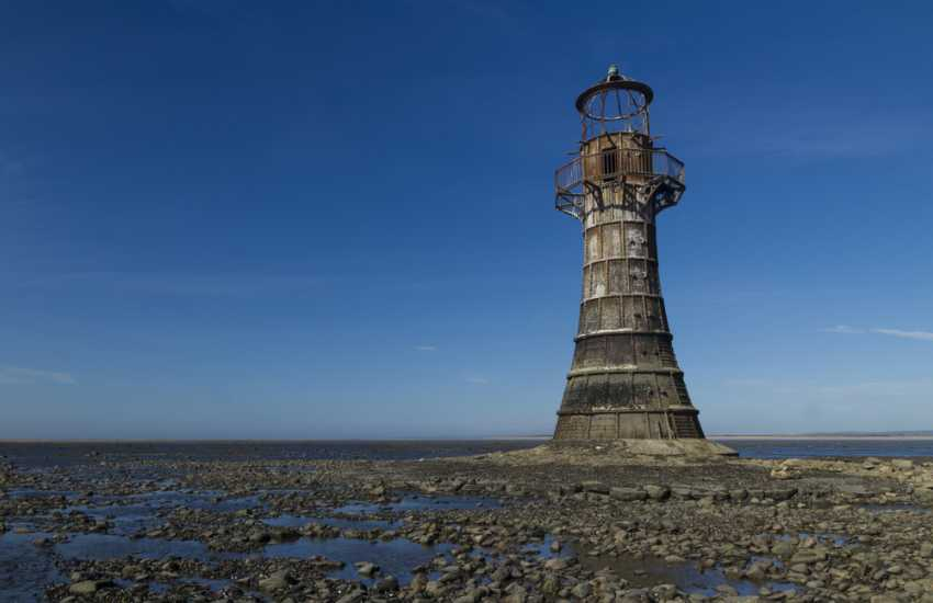 At the end of Whiteford Point stands the only cast iron lighthouse left in the UK