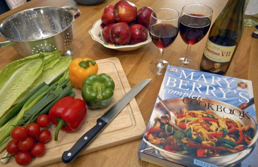 Marry Berry cookery books at Luxury Pembrokeshire holiday home