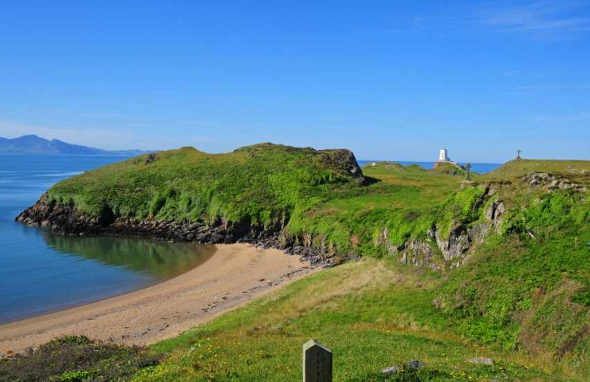 Beaches and nature on Llanddwyn Island Anglesey