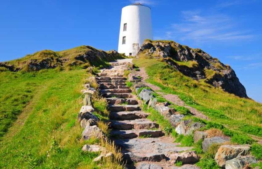 The old lighthouse on Llanddwyn Island Anglesey