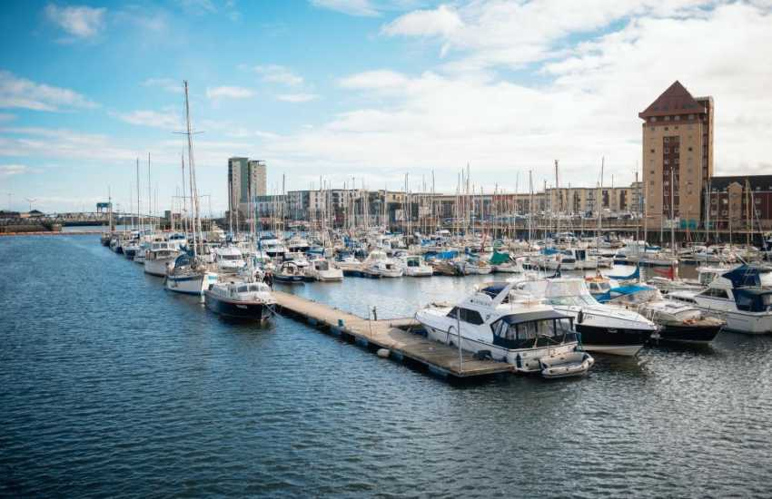 Swansea Marina offers visitor berths for as little as a day to as long as a month