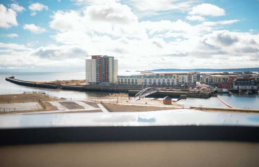 Penthouse apartment Swansea marina-sea views