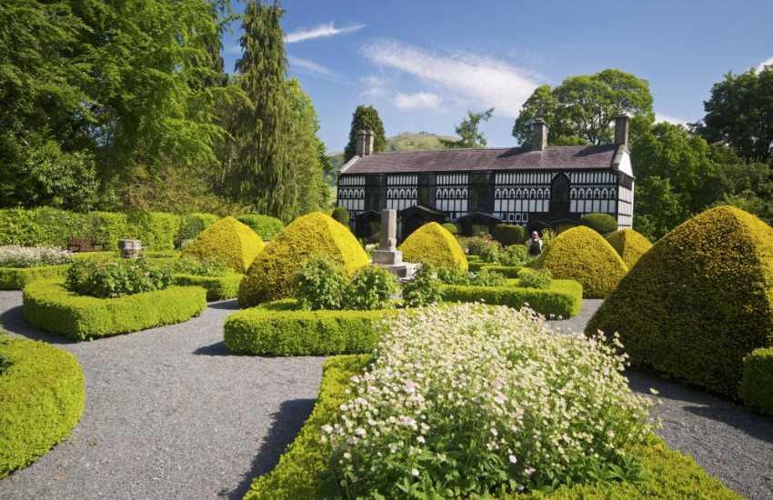 Visit Plas Newydd house and gardens in Llangollen