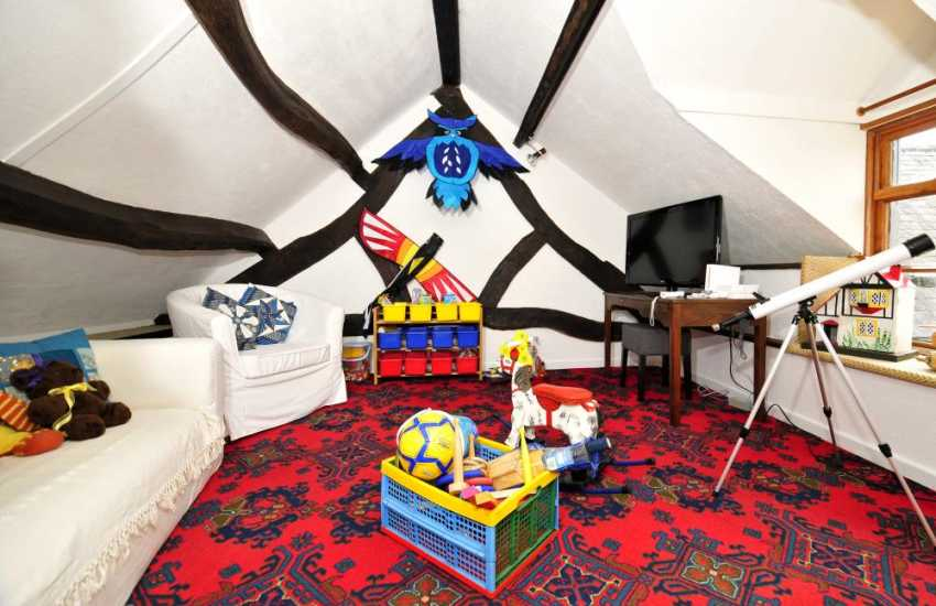 Holiday cottage Corwen - play room