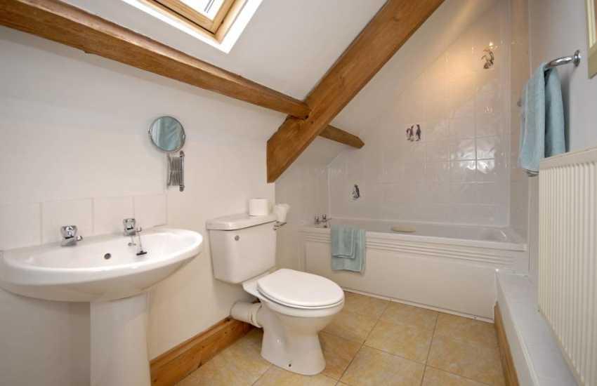 Pembrokeshire holiday cottage - master en-suite bathroom