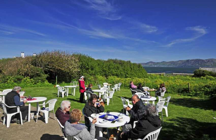 Tea room at Penmon Lighthouse - popular with birdwatchers