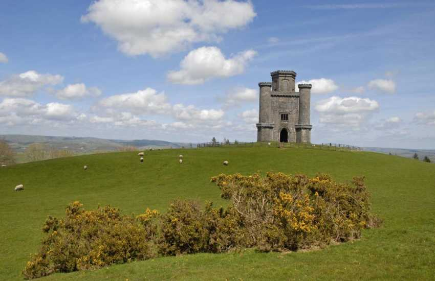 Walk up to Paxtons Tower, also known as The Nelson Monument, a Grade II listed Neo Gothic folly with stunning views over the Towy Valley