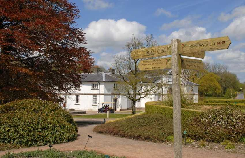 Do visit Aberglasney historic garden and the National Botanic Garden of Wales with its impressive Great Glass House, lakes, shops and cafe