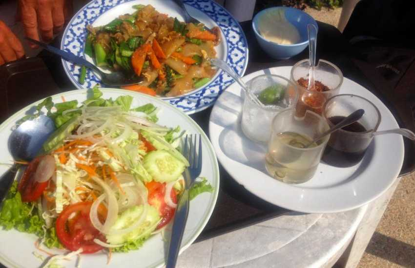 Try Llanybri's local, The Farmers Arms (2 miles) for local ales and delicious Thai food