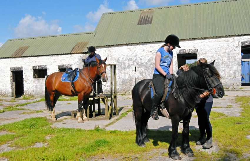 Parc-Le-Breos is a family run riding centre catering for all abilities. Choose from a children's paddock ride to a full day's trek through spectacular scenery stopping at a country pub for lunch