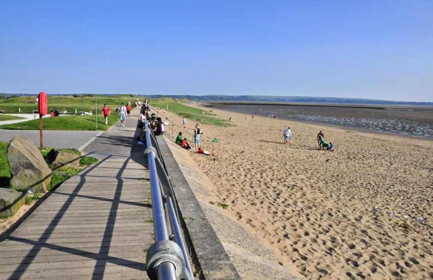 Cefn Sidan, Pembrey - a fine sandy beach backed by dunes stretches 7 1/2 miles from Burry Port harbour to Tywyn point near Kidwelly