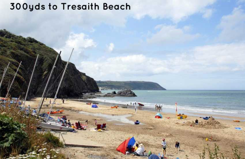 Tresaith beach 300yds walk