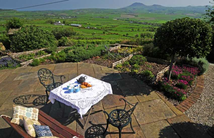 North Wales luxury coastal cottage - view