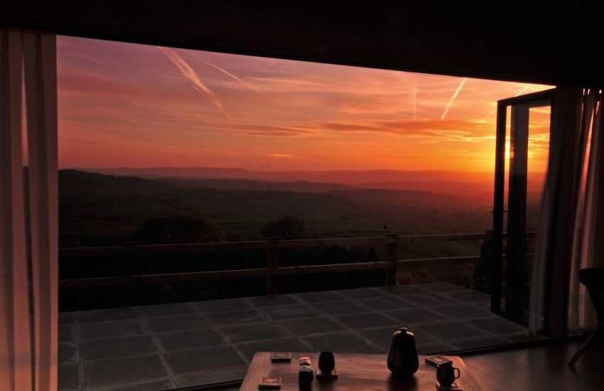 Usk Valley holiday cottage - sunset