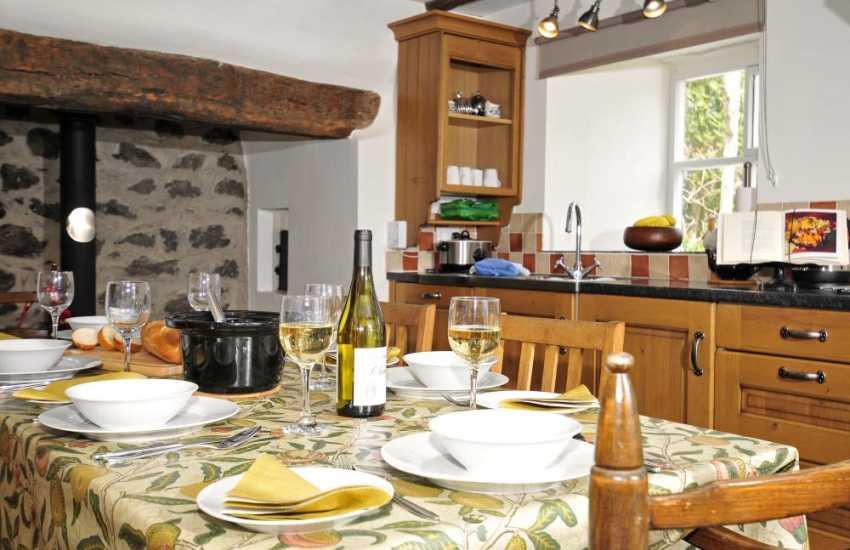 Pet friendly Criccieth cottage -  kitchen