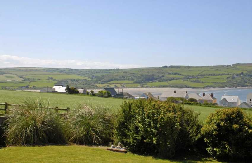 Enjoy breathtaking views over the Teifi Estuary to Poppit Sands