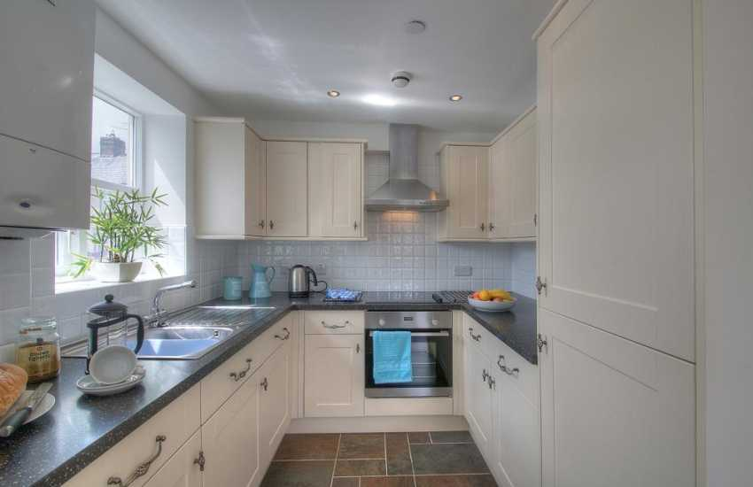 Anglesey self catering apartment-kitchen
