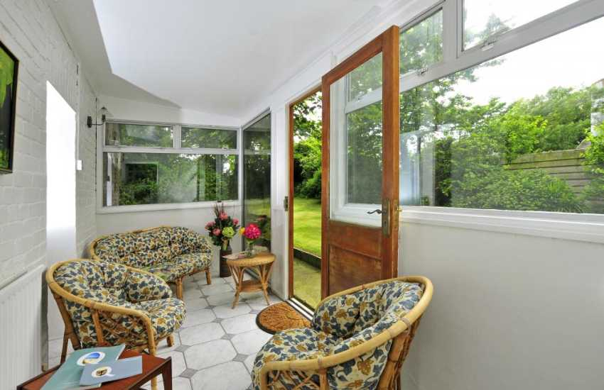 St Davids nearby holiday cottage Pothgain-sunroom