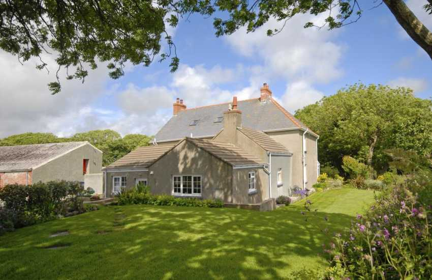 Pet free Porthgain holiday cottage with private gardens