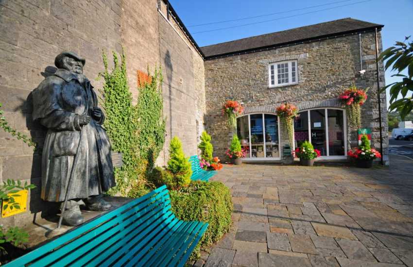 Visit historic Llandovery town centre to see a statue of a drover