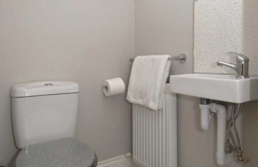 St Davids holiday apartment - second floor toilet