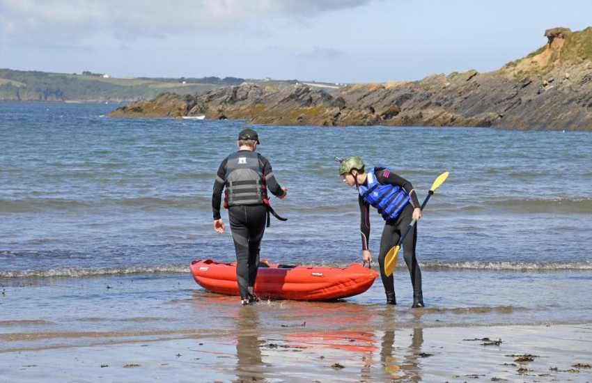 TYF Adventure Centre in St Davids offer a wide range of activities including bike hire, rock climbing, coasteering, sailing, and sea kayaking