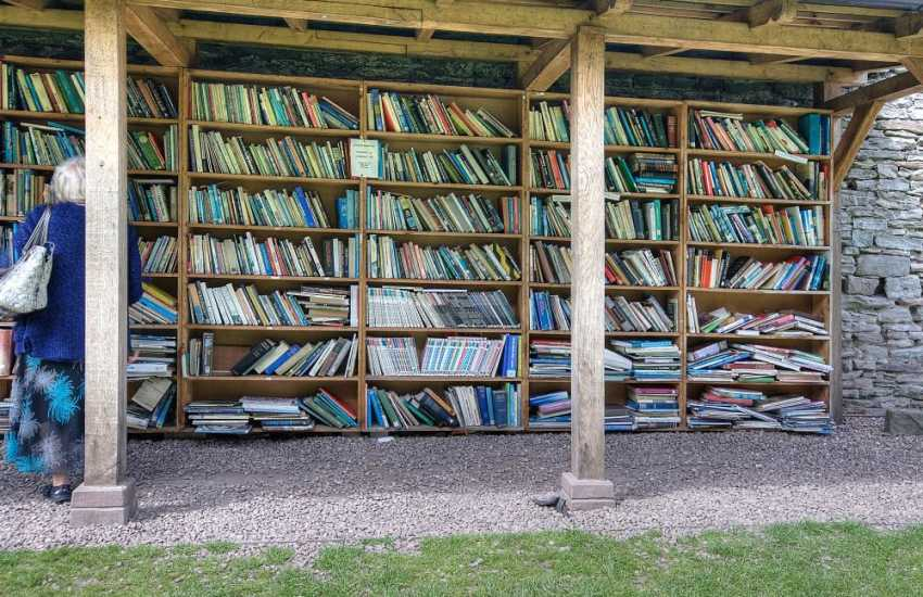 Books galore in the castle grounds outdoor book shop