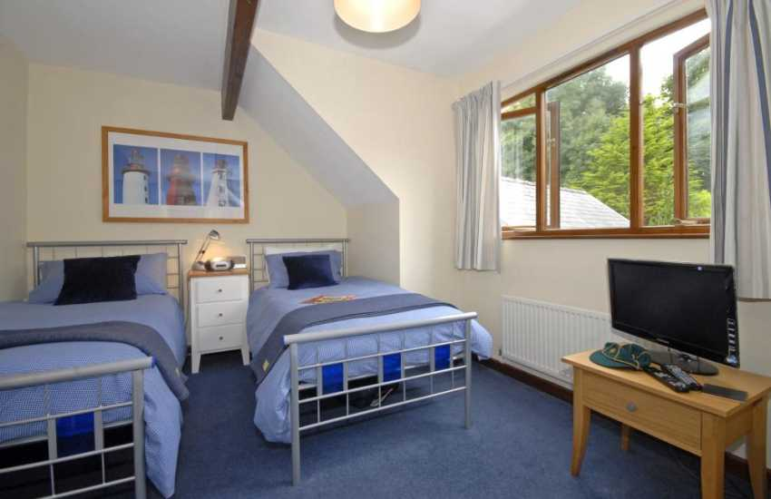 Llansteffan large family holiday house sleeps 7 - twin with t.v.