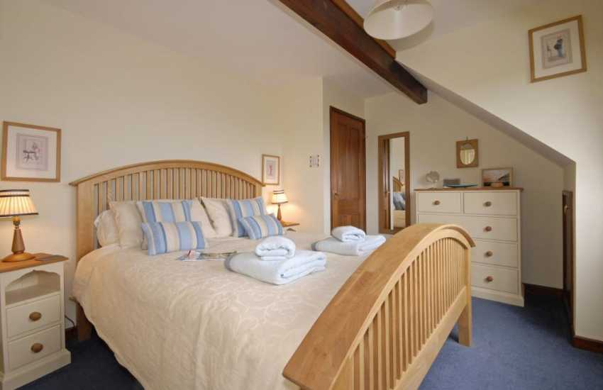 Carmarthenshire holiday home - kingsize bedroom with estuary views