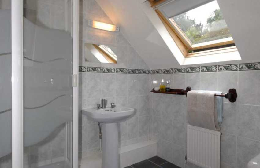 Llansteffan beach holiday home - master en-suite shower