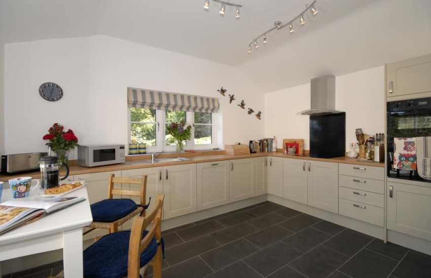 Newport Pembs self catering holiday home - spacious fitted kitchen
