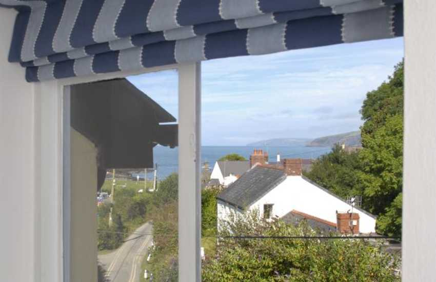 Views down to the beach from the twin bedroom