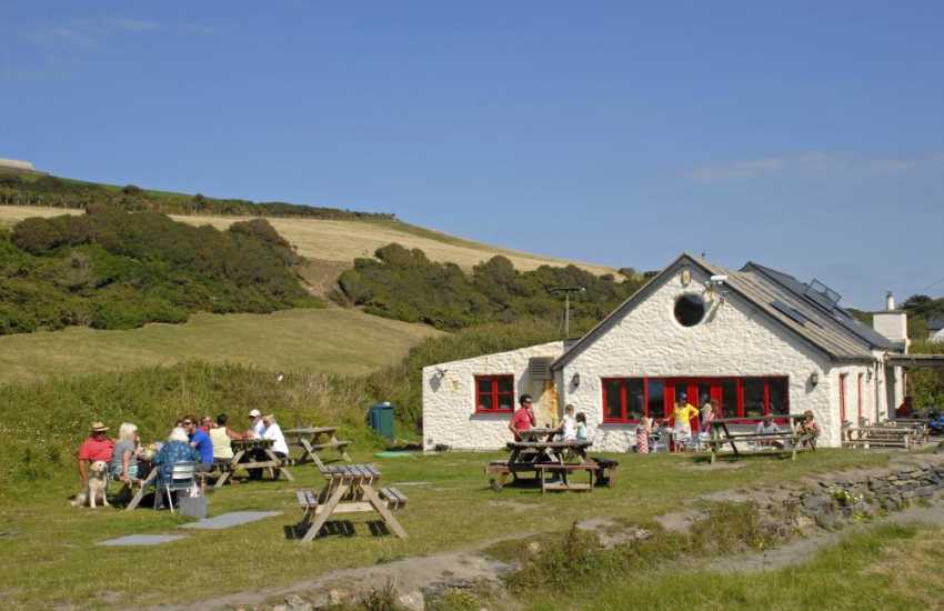The Old Sailors Inn at Pwllgwaelod over looking the beach serves real ales and good food - sea food and shell fish are a speciality