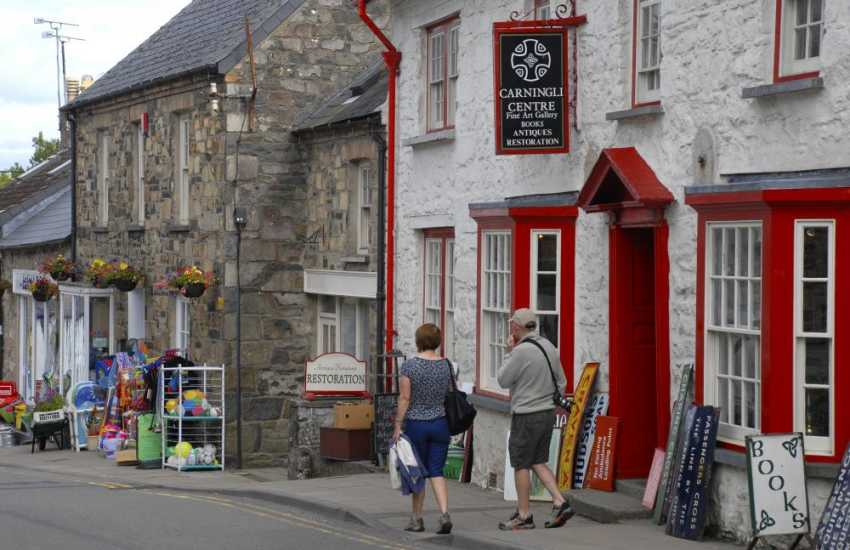 Browse in Carningli Antique Centre, Newport - lots of interesting memorabilia, art gallery and second-hand book shop