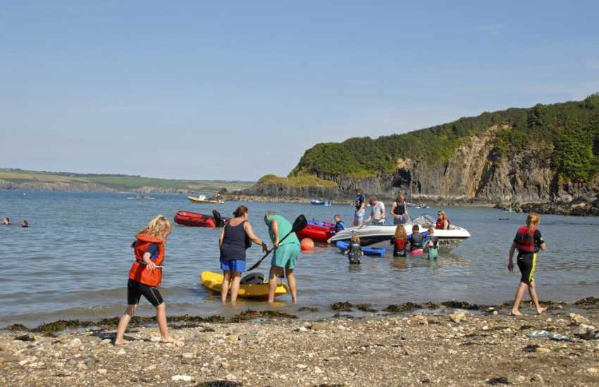 Cwm yr Eglwys has a slipway onto the beach where you can launch your boat or kayak
