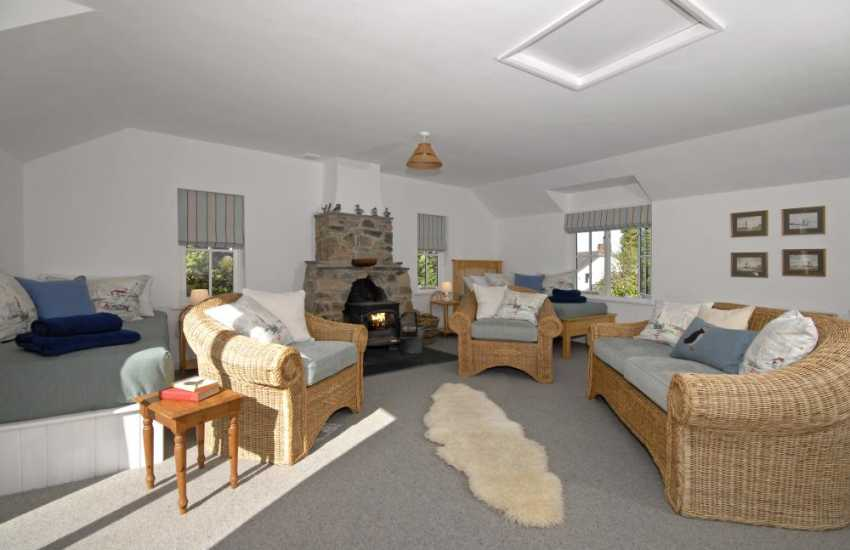 Cwm yr Eglwys holiday cottage with adjoining annex for two and wood burning stove