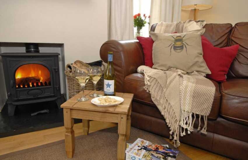 St Davids stylish holiday cottage with wood burning stove