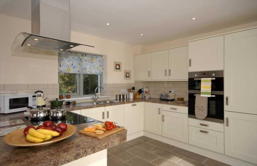 St Davids holiday home - luxury modern kitchen/diner