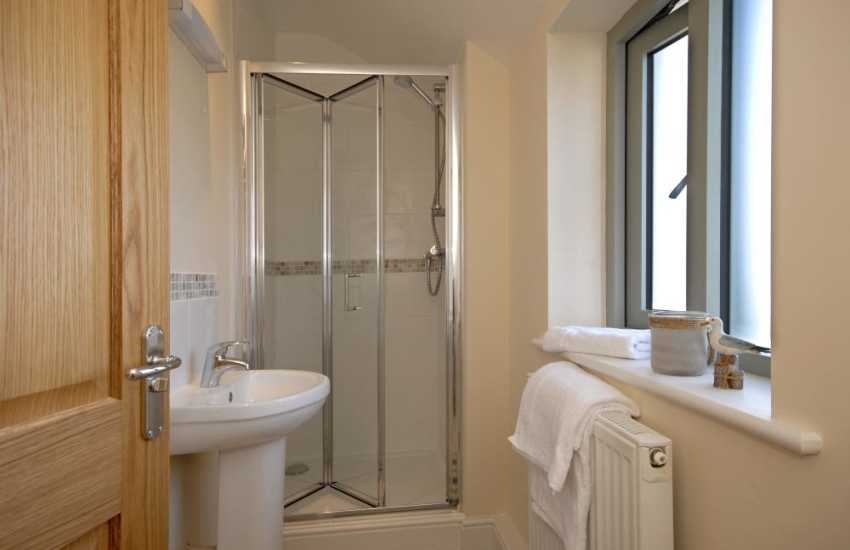 St Davids holiday house - master en-suite shower
