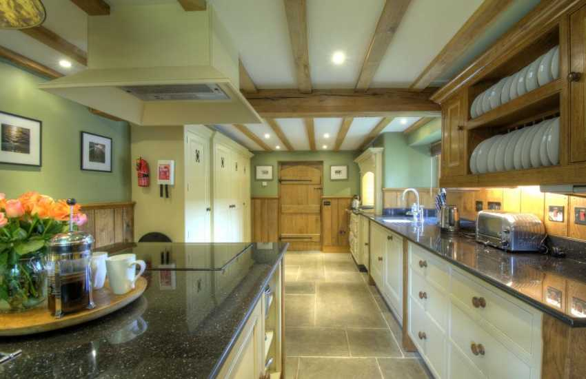 Holiday cottage with hot tub Mid Wales - kitchen