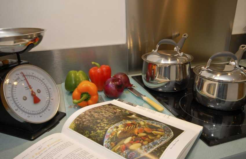 Cookery books at Llys Meinor, Solva