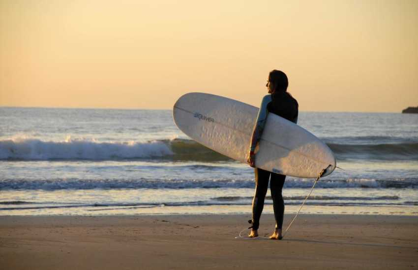 Head down to Newgale to catch some surf - a 3 mile sandy beach and dog friendly throughout the year