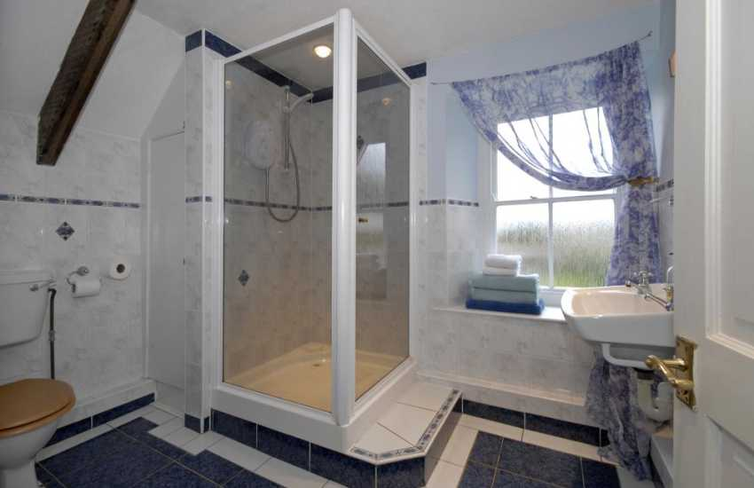 Pembrokeshire coastal holiday home - first floor family shower room